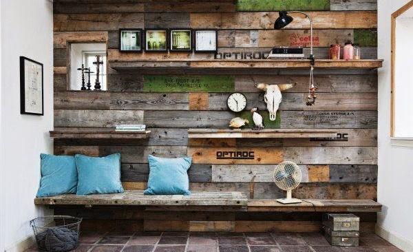 Cómo decorar paredes con palets